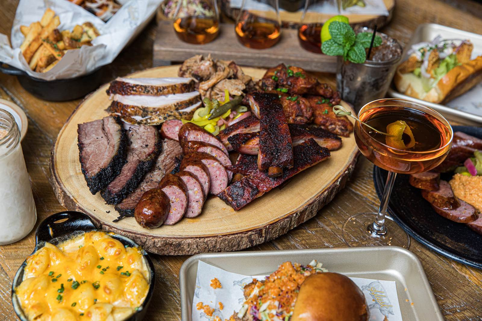 In December Husk Greenville pivoted to smoked meat platters as Husk Barbeque