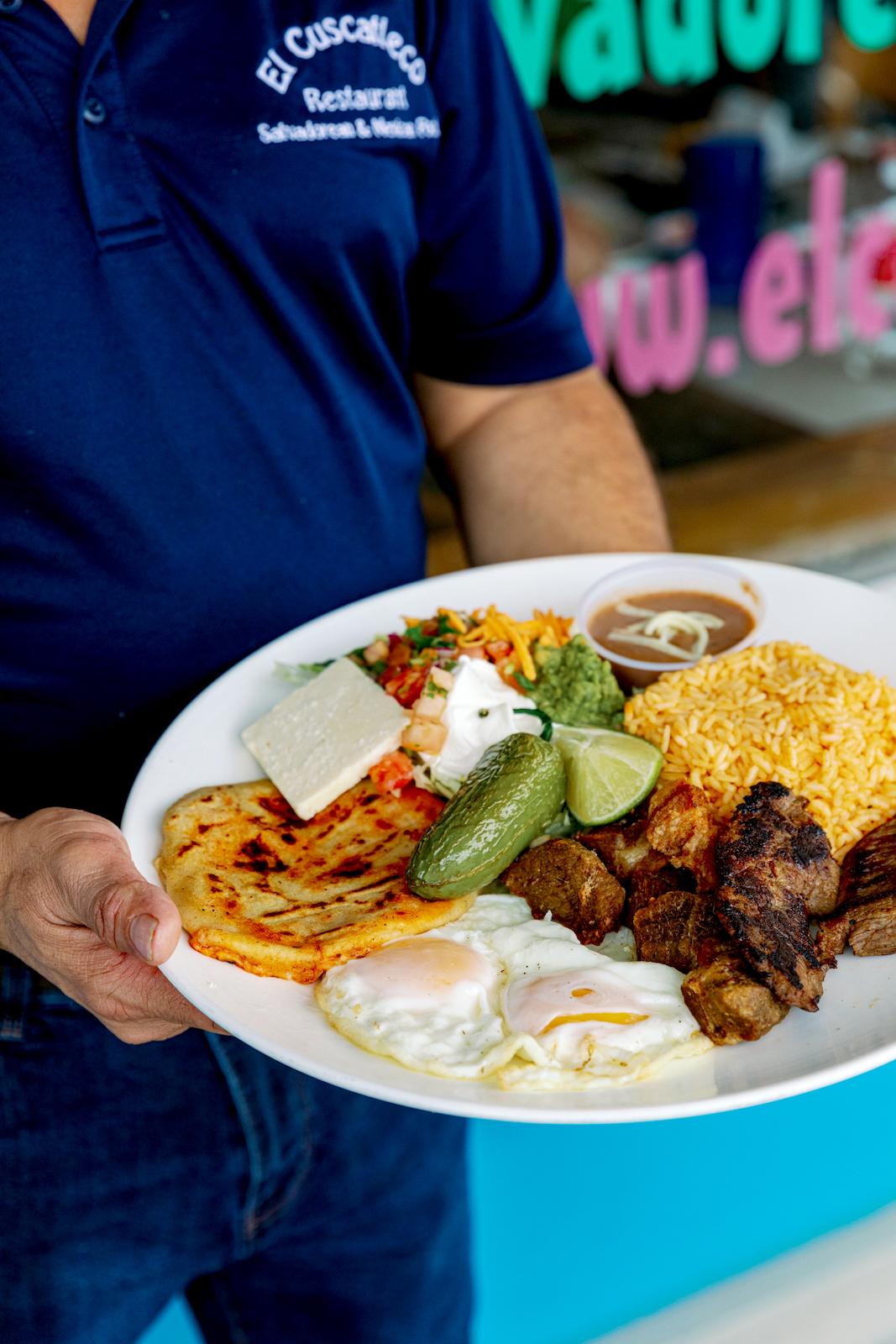 The Bandeja Salvadoreña at El Cuscatleco offers a tour of the cuisine of El Salvador