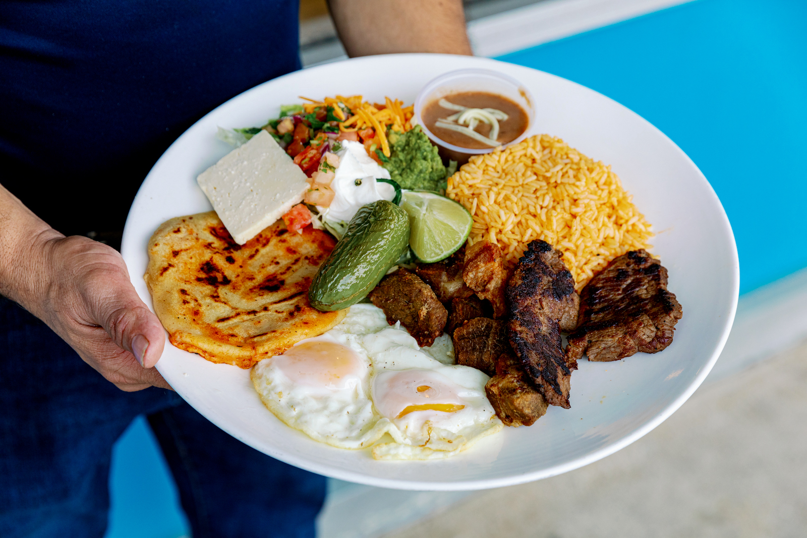 The Bandeja Salvadoreña at El Cuscatleco in Durham is just one example of the array of Latin American flavors now found in the Triangle