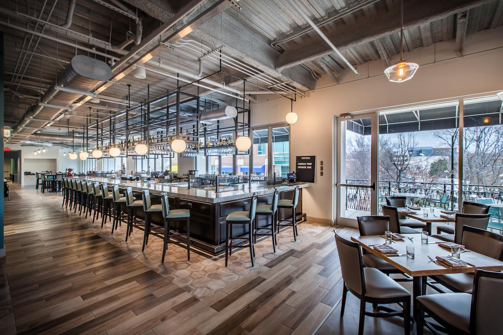 At Jianna in Greenville Chef Michael Kramer puts the oyster bar front and center