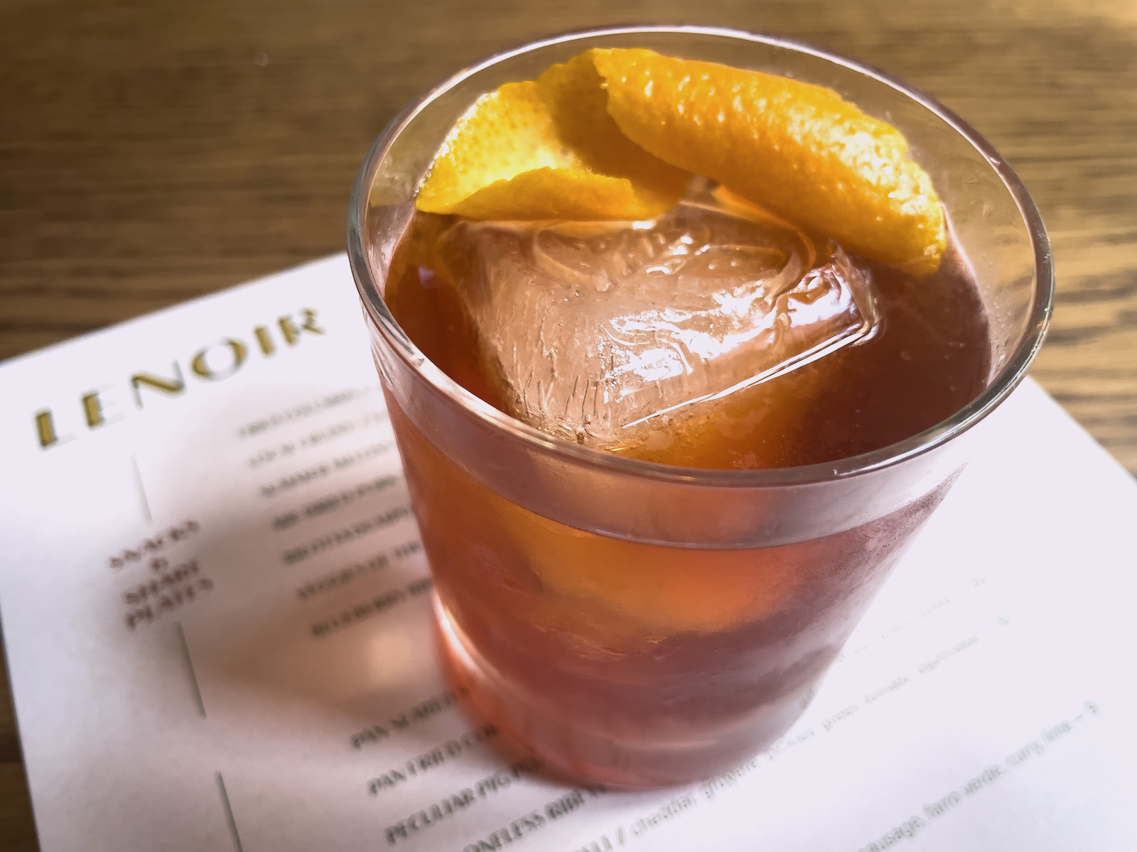 The Short Rows at Lenoir in Charleston gets a local bitter touch from High Wire Southern Amaro