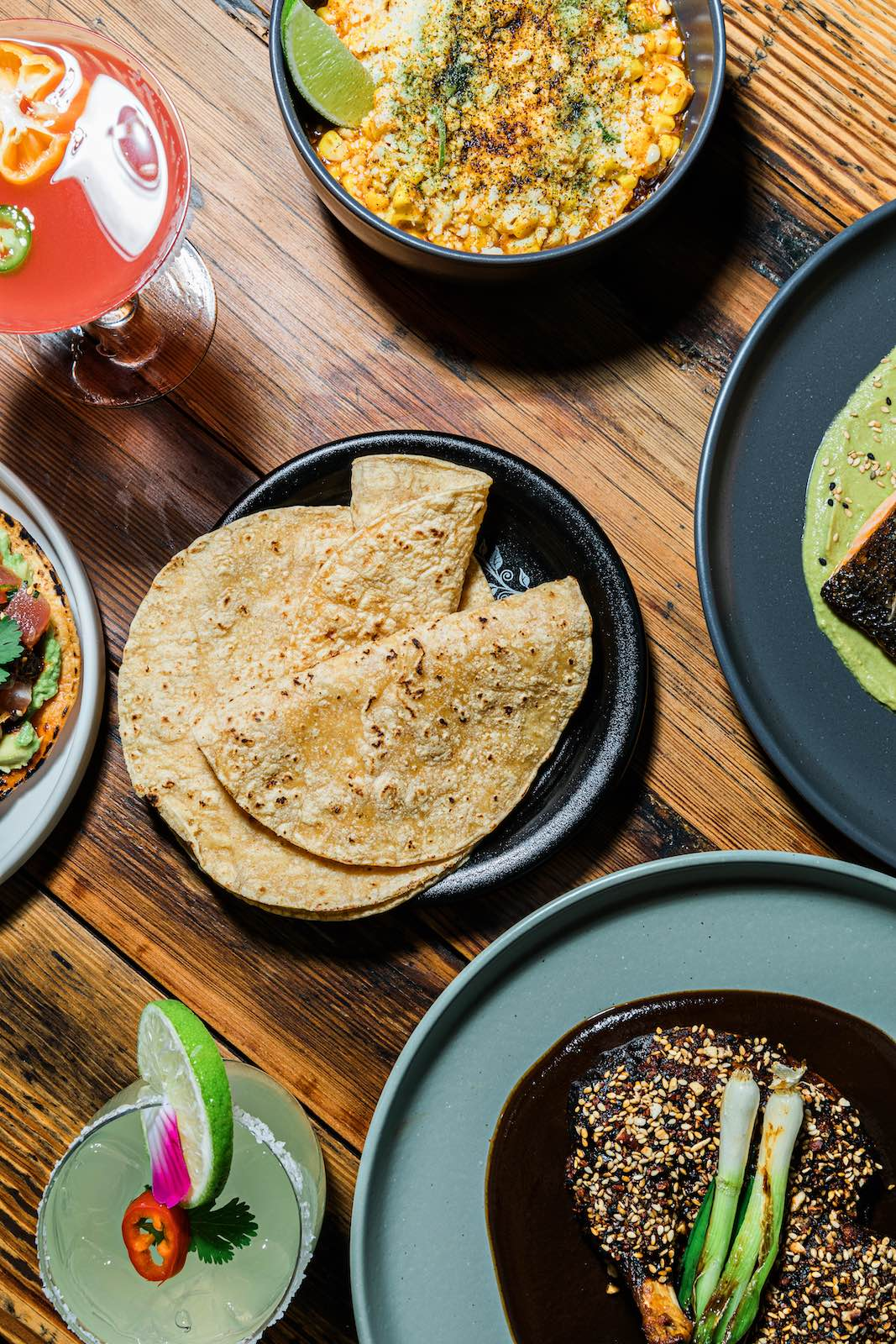 The Maya offering includes handmade tortillas and coastal-inflected Mexican dishes