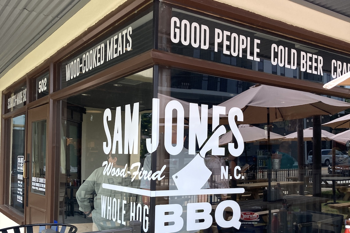 They're cooking old fashioned whole hog at Sam Jones's new Raleigh restaurant